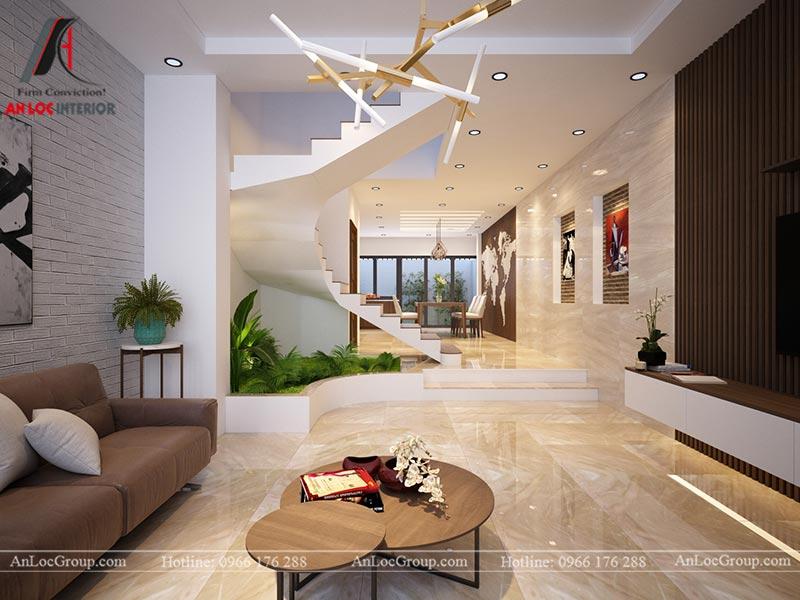 Mẫu thiết kế nội thất nhà phố đẹp 150m2 tại Ba Vì, Hà Nội – Anh Triệu