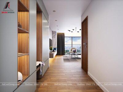 Thiết kế nội thất phòng khách chung cư Ngoại Giao Đoàn 84m2