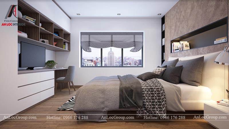 Thiết kế nội thất phòng ngủ riêng chung cư Ngoại Giao Đoàn 84m2