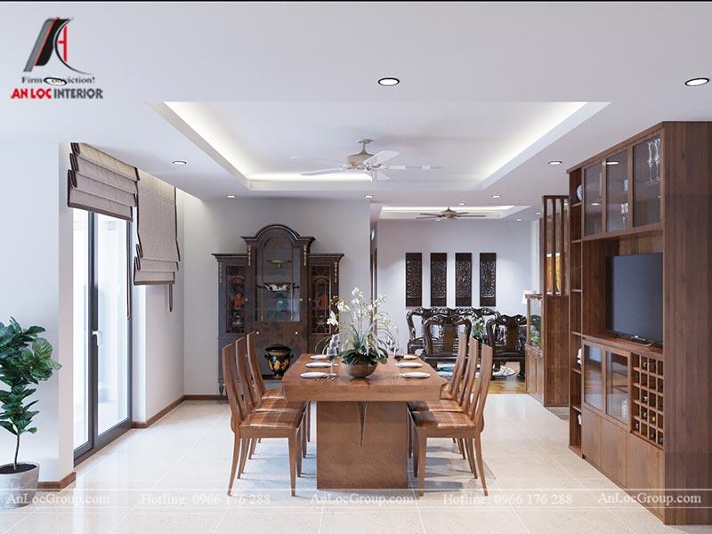 Nội thất phòng bếp căn hộ 71m2 tại Vinhomes Green Bay