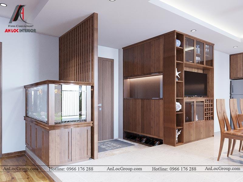 Tủ Giày âm tường từ gỗ công nghiệp