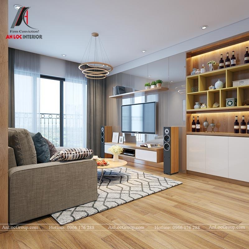 Nội thất chung cư 86m2 tại Vinata Tower - Ảnh 6