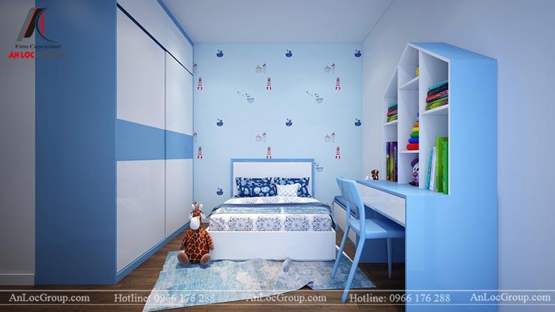 Nội thất phòng ngủ con căn hộ 66m2 tại Green Stars view 1