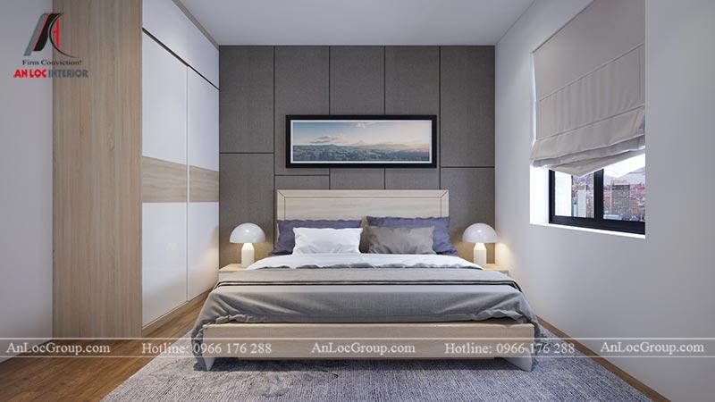 Nội thất phòng ngủ master căn hộ 66m2 tại Green Stars view 1