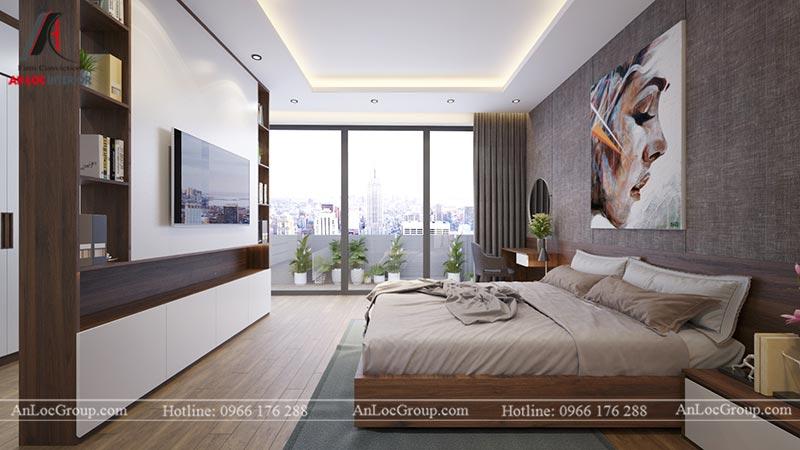 Nội thất phòng ngủ master chung cư Home City Trung Kính