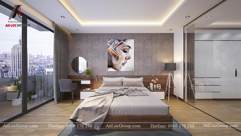 Phòng ngủ đẹp với nội thất bố trí gọn gàng