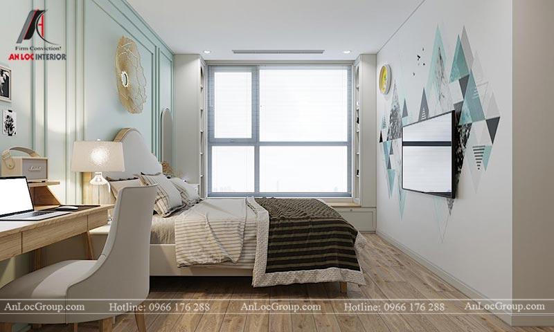 Mẫu nội thất chung cư Vinhomes Cầu Diễn diện tích 100m2 - Hình 8