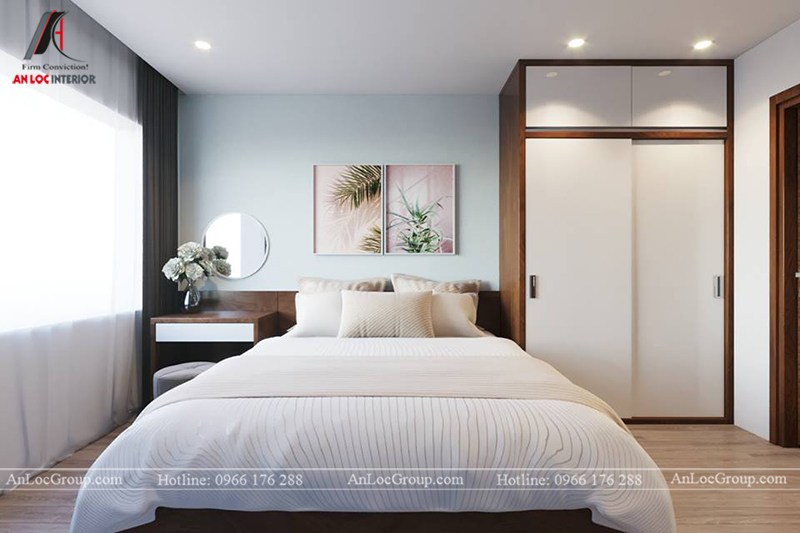 Thiết kế phòng khách chung cư 117m2 tại Sun Square - Ảnh 10