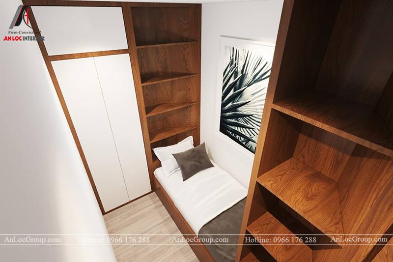 Thiết kế phòng ngủ nhỏ chung cư 117m2 tại Sun Square - Ảnh 2
