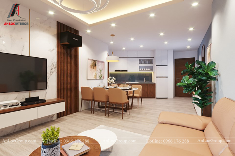 Thiết kế căn hộ chung cư 3 phòng ngủ 117m2 tại Sun Square