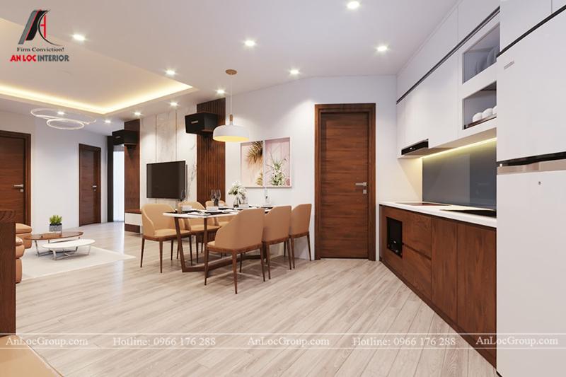 Thiết kế phòng khách chung cư 117m2 tại Sun Square - Ảnh 8