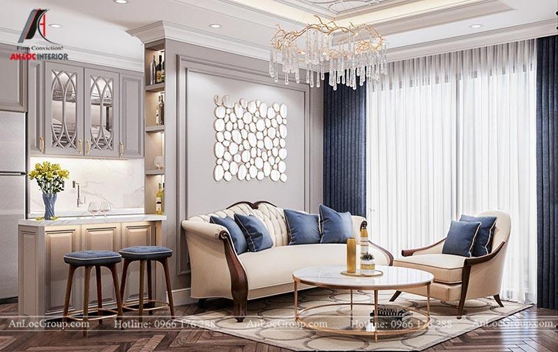 Thiết kế nội thất chung cư 115m2 tại Hinode City Plaza - Ảnh 1