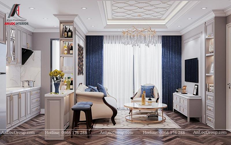 Thiết kế nội thất chung cư 115m2 tại Hinode City Plaza - Ảnh 2