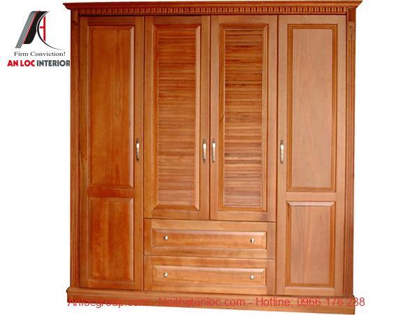 Mẫu 3 - Tủ gỗ chò chỉ mang lại vẻ đẹp sang trọng, quyến rũ