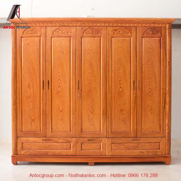 Tủ gỗ Hương 5 cánh