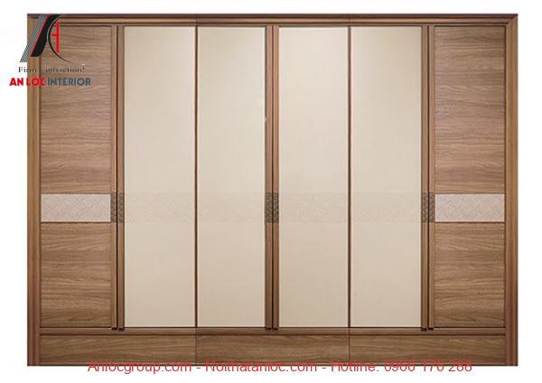 Mẫu 19 - Tủ quần áo gỗ công nghiệp có sự phối hợp màu sắc hài hòa
