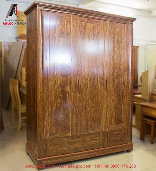 Mẫu 10 - Tủ quần áo gỗ trắc