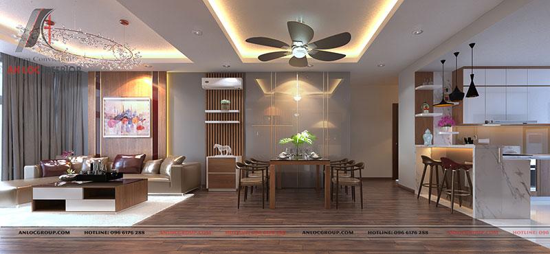 Nội thất căn hộ cao cấp Discovery Complex 150m2 - Ảnh 3