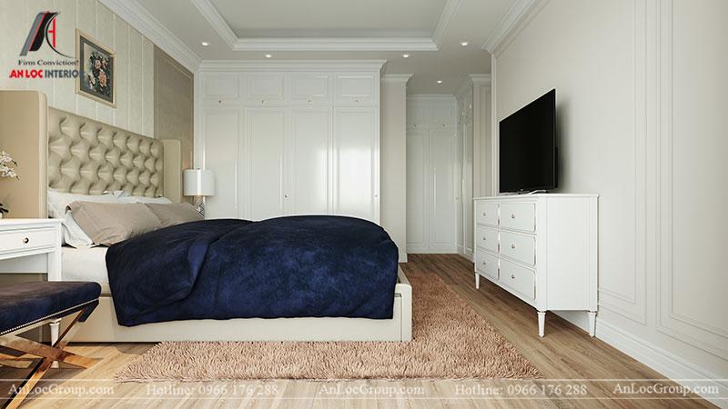 Nội thất chung cư tân cổ điển 110m2 tại Amber Riverside - Ảnh 10