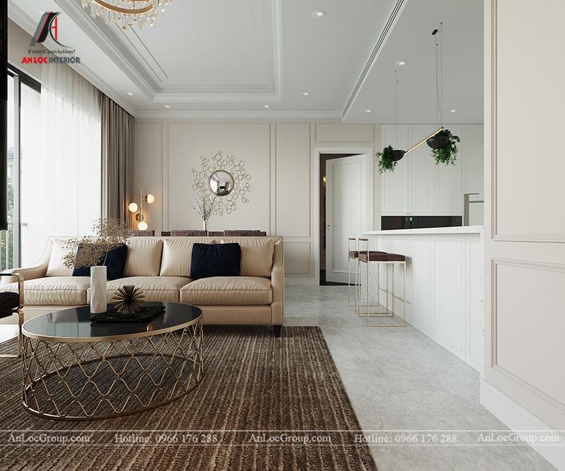 Thiết kế chung cư hiện đại 68m2 tại Madarin Garden 2 Tân Mai - Ảnh 2