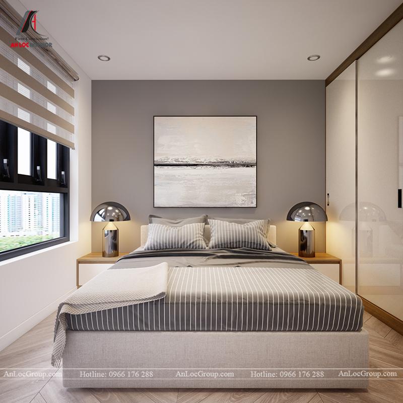 Thiết kế căn hộ 99m2 tại Imperia Sky Garden - Phòng ngủ 1 view 1