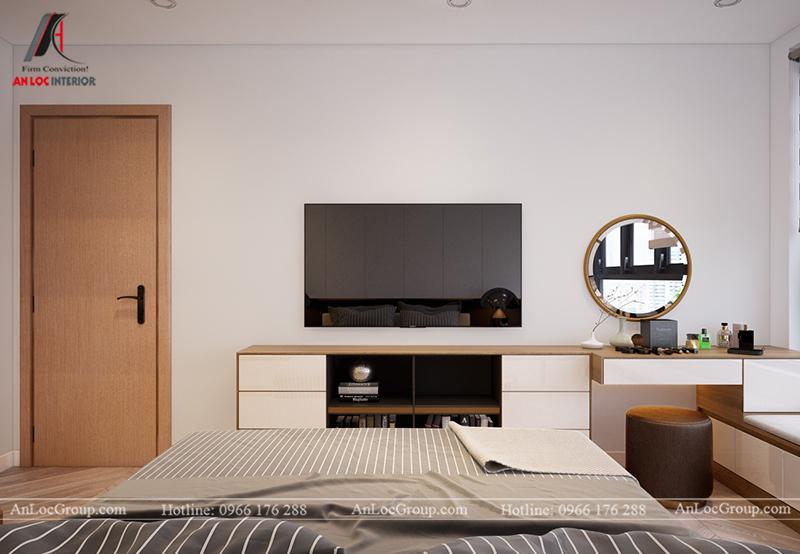 Thiết kế căn hộ 99m2 tại Imperia Sky Garden - Phòng ngủ 2 view 2