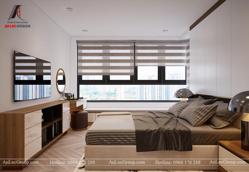 Thiết kế căn hộ 99m2 tại Imperia Sky Garden - Phòng ngủ 2 view 4