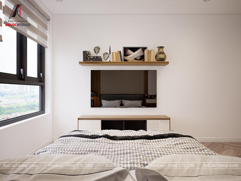 Thiết kế căn hộ 99m2 tại Imperia Sky Garden - Phòng ngủ master view 2