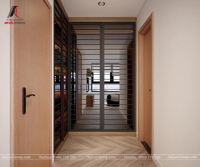 Thiết kế căn hộ 99m2 tại Imperia Sky Garden - Phòng ngủ master view 4