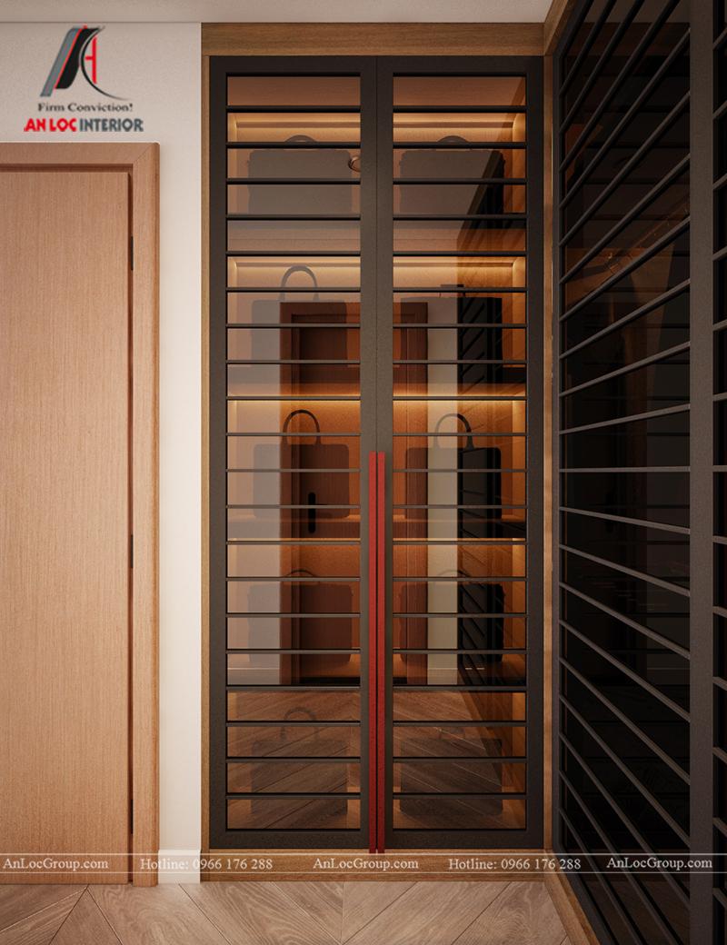 Thiết kế căn hộ 99m2 tại Imperia Sky Garden - Phòng ngủ master view 5