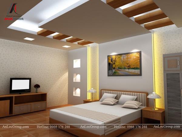 Mẫu 2 - Trần phòng ngủ người lớn phong cách hiện đại