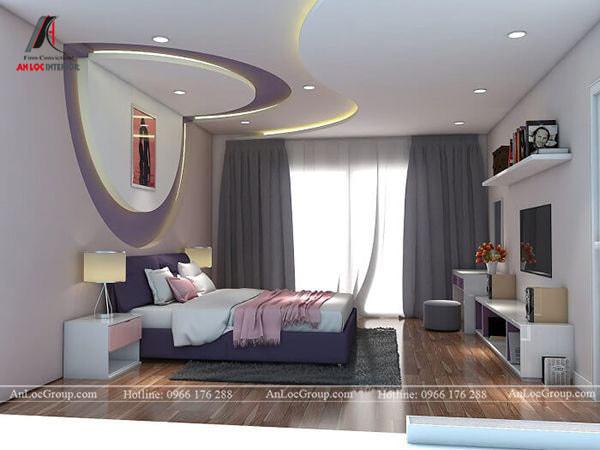 Mẫu 3 - Trang trí trần nhà đẹp cho phòng ngủ