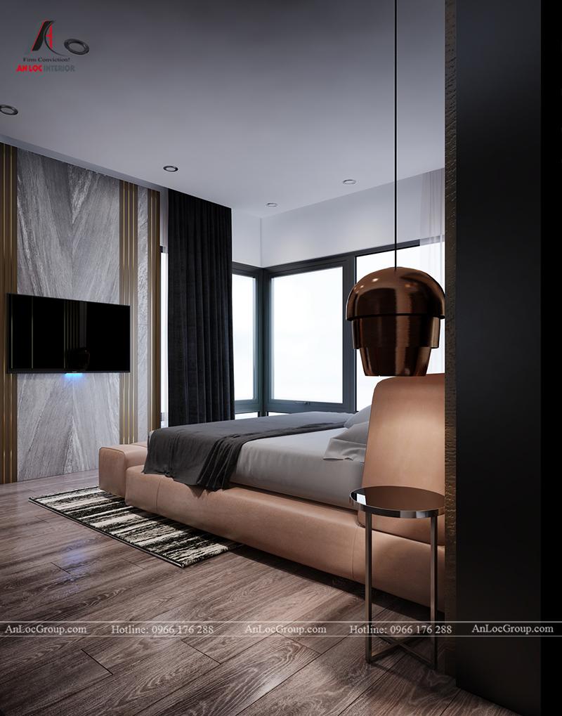Nội thất căn hộ 86m2 tại Sài Gòn Pearl phòng ngủ master view 6