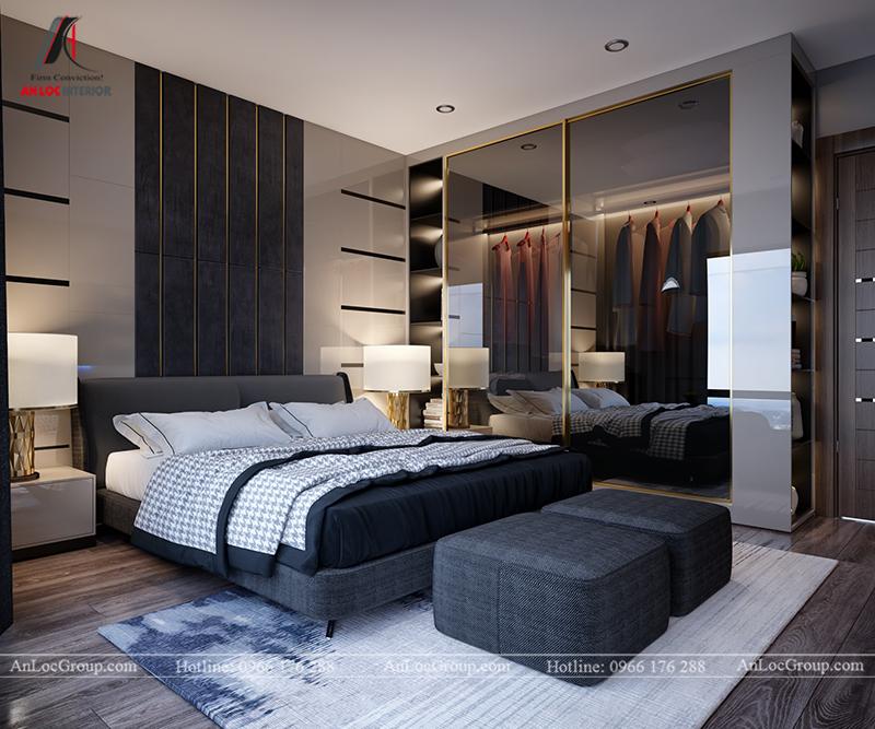 Nội thất căn hộ 86m2 tại Sài Gòn Pearl phòng ngủ nhỏ view 2