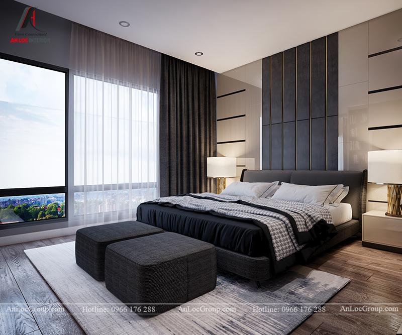 Nội thất căn hộ 86m2 tại Sài Gòn Pearl phòng ngủ nhỏ view 4