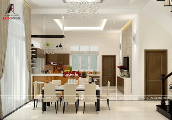 Mẫu 3 - Trần phòng bếp phong cách hiện đại