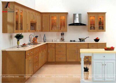 Tủ bếp gỗ Căm Xe 2