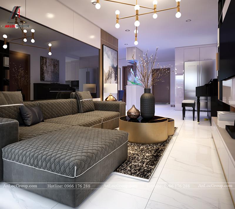 Thiết kế phòng khách liên thông nhà bếp