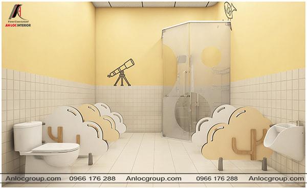 Thiết kế nhà vệ sinh trường mẫu giáo