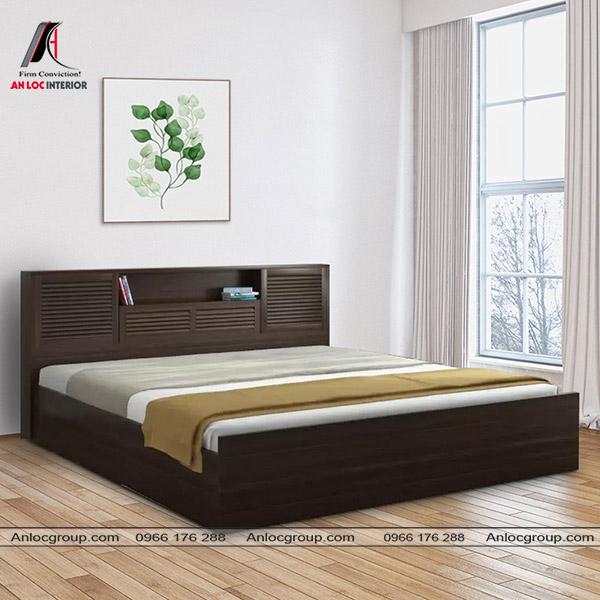 Hầu hết các mẫu giường thấp đều được thiết kế không chân hoặc có chân hạ thấp xuống sàn nhà.