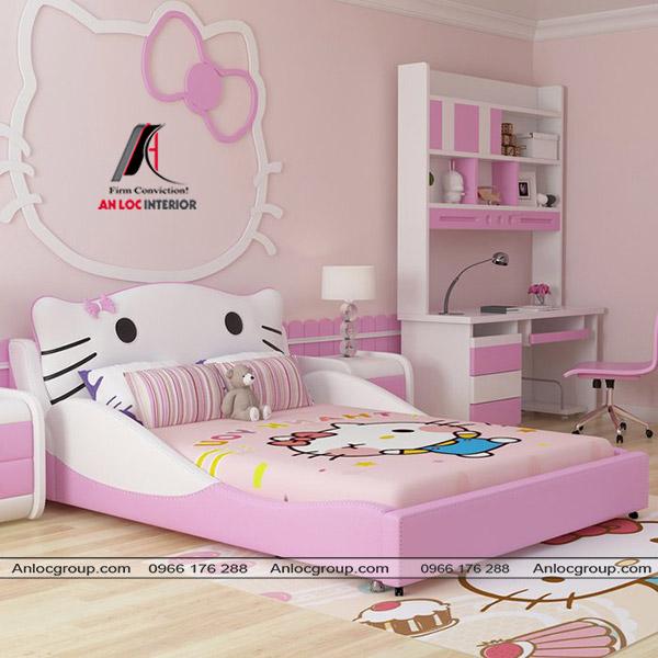 giường thấp cho bé gái 2