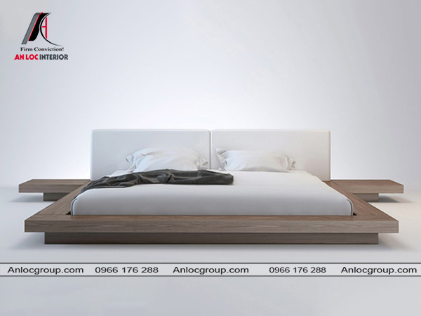 Giường thấp kiểu nhật đơn giản nhưng tiện nghi