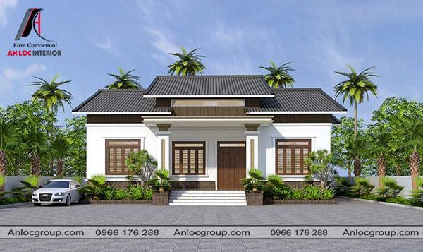 Mẫu 26 - Điểm nhấn của ngôi nhà nằm trên tính cân xứng đậm nét Á Đông