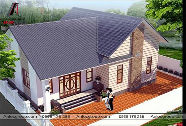 Mẫu 15 - Ngôi nhà xây dựng theo hình chữ L