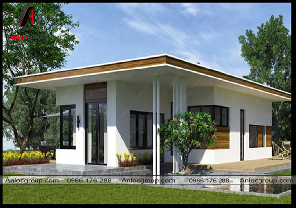 Mẫu 18 - Một mẫu nhà mái bằng thiết kế đơn giản khác