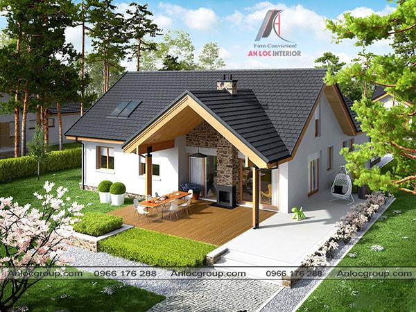 Mẫu 12 - Điển hình của kiểu nhà mái thái đẹp ở nông thôn