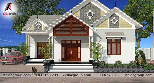 Mẫu 7 - Mái thái giật cấp tạo điểm nhấn cho ngôi nhà
