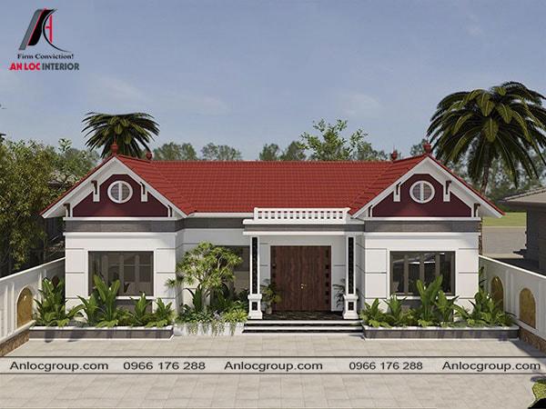 Mẫu 49 - Nhà cấp 4 ở nông thôn theo kiến trúc nhà 3 gian truyền thống