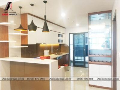 Phòng bếp căn hộ 134m2 tại Discovery Complex 302 Cầu Giấy