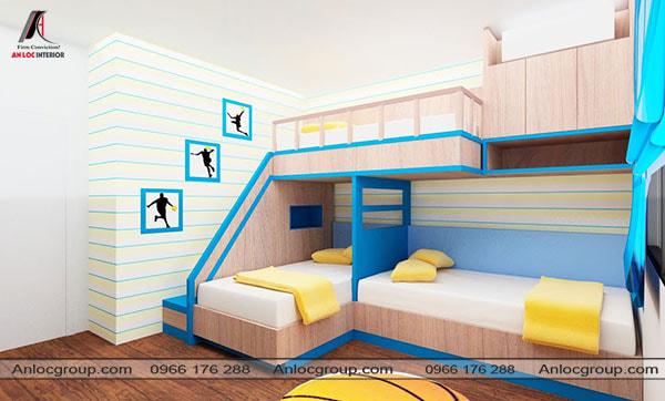 Mẫu 28 - Giường tầng có thiết kế ấn tượng